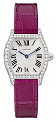 Cartier Tortue Manual Small Diamonds White Gold Ladies WA501007